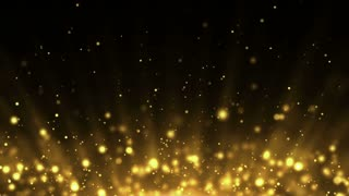 Particles Gold Glitter Bokeh Award Dust Abstract Background Loop 19