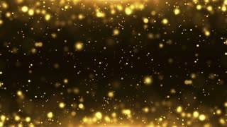 Particles Gold Glitter Bokeh Award Dust Abstract Background Loop 20