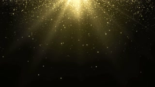 Particles Gold Glitter Bokeh Award Dust Abstract Background Loop 21