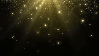 Particles Gold Glitter Bokeh Award Dust Abstract Background Loop 22