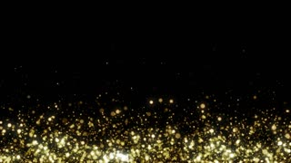 Particles Gold Glitter Bokeh Award Dust Abstract Background Loop 26