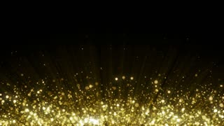 Particles Gold Glitter Bokeh Award Dust Abstract Background Loop 27