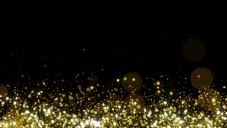 Particles Gold Glitter Bokeh Award Dust Abstract Background Loop 28