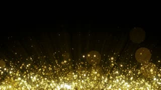 Particles Gold Glitter Bokeh Award Dust Abstract Background Loop 29