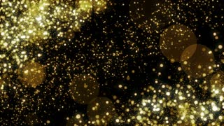 Particles Gold Glitter Bokeh Award Dust Abstract Background Loop 30