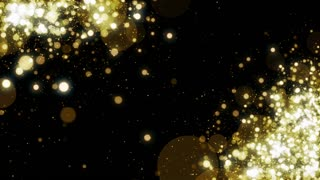 Particles Gold Glitter Bokeh Award Dust Abstract Background Loop 32