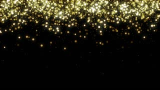 Particles Gold Glitter Bokeh Award Dust Abstract Background Loop 33