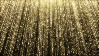 Particles Gold Glitter Bokeh Award Dust Abstract Background Loop 37