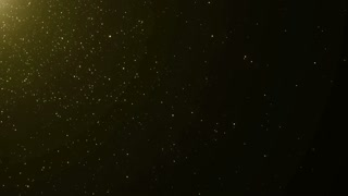 Particles Gold Glitter Bokeh Award Dust Abstract Background Loop 38