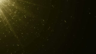 Particles Gold Glitter Bokeh Award Dust Abstract Background Loop 39