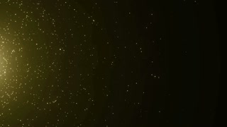 Particles Gold Glitter Bokeh Award Dust Abstract Background Loop 40