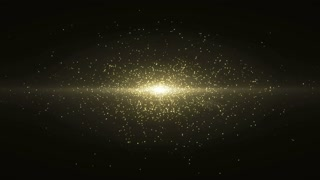 Particles Gold Glitter Bokeh Award Dust Abstract Background Loop 42