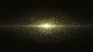Particles Gold Glitter Bokeh Award Dust Abstract Background Loop 44