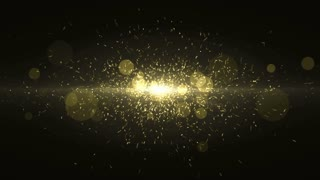Particles Gold Glitter Bokeh Award Dust Abstract Background Loop 45