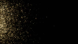 Particles Gold Glitter Bokeh Award Dust Abstract Background Loop 46