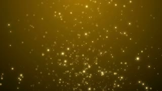 Particles Gold Glitter Bokeh Award Dust Abstract Background Loop 53