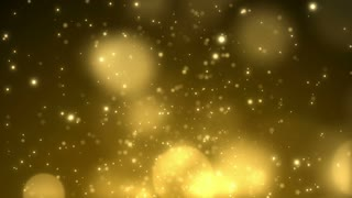Particles Gold Glitter Bokeh Award Dust Abstract Background Loop 58