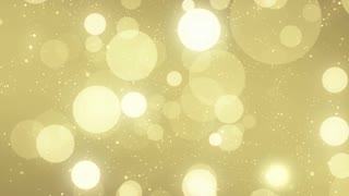 Particles Gold Glitter Bokeh Award Dust Abstract Background Loop 63