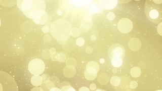 Particles Gold Glitter Bokeh Award Dust Abstract Background Loop 64