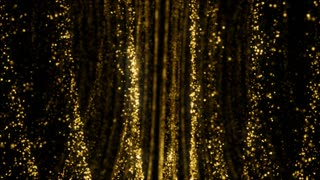 Particles Gold Glitter Bokeh Award Dust Abstract Background Loop 71