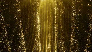 Particles Gold Glitter Bokeh Award Dust Abstract Background Loop 72