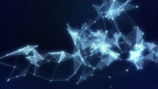 Plexus abstract network titles cinematic background 14