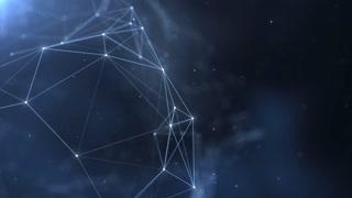 Plexus abstract network titles cinematic background 37