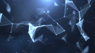 Plexus abstract network titles cinematic background 41