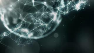Plexus abstract network titles cinematic background 52