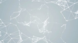 Plexus Abstract Network White Technology Science Background Loop 06