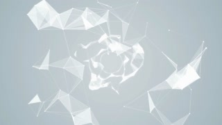 Plexus Abstract Network White Technology Science Background Loop 08