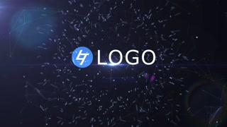 Plexus Logo Reveal Opener Promo Intro Particles Abstract Light Modern