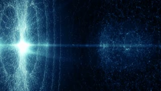 Particles blue bokeh dust abstract light motion titles cinematic background loop