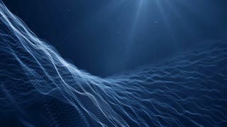 Particles blue dust abstract light bokeh motion titles cinematic background vj loop