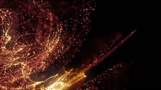 Particles Dust Abstract Light Motion Titles Cinematic Background Loop 37