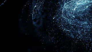 Particles Dust Abstract Light Motion Titles Cinematic Background Loop 52