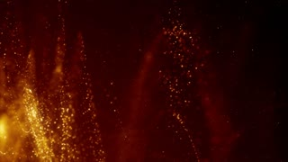 Particles dust bokeh abstract light motion titles cinematic background loop