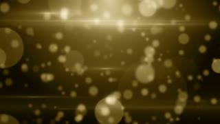 Particles gold bokeh glitter awards dust abstract background loop