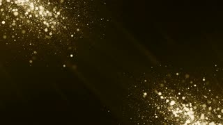 Particles gold bokeh glitter awards dust abstract background vj loop