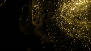 Particles Gold Glitter Bokeh Award Dust Abstract Background Loop 81