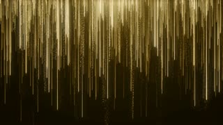 Particles Gold Glitter Bokeh Award Dust Abstract Background Loop 85