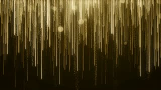 Particles Gold Glitter Bokeh Award Dust Abstract Background Loop 86