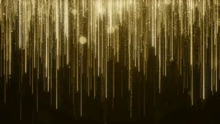 Particles Gold Glitter Bokeh Award Dust Abstract Background Loop 87