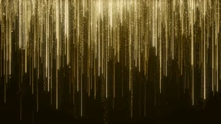 Particles Gold Glitter Bokeh Award Dust Abstract Background Loop 89