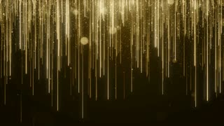 Particles Gold Glitter Bokeh Award Dust Abstract Background Loop 90