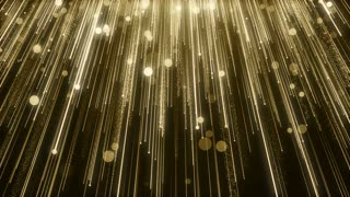 Particles Gold Glitter Bokeh Award Dust Abstract Background Loop 93