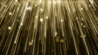 Particles Gold Glitter Bokeh Award Dust Abstract Background Loop 94