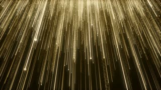 Particles Gold Glitter Bokeh Award Dust Abstract Background Loop 96