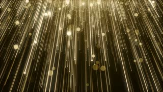 Particles Gold Glitter Bokeh Award Dust Abstract Background Loop 97