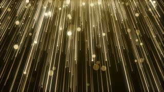 Particles Gold Glitter Bokeh Award Dust Abstract Background Loop 98